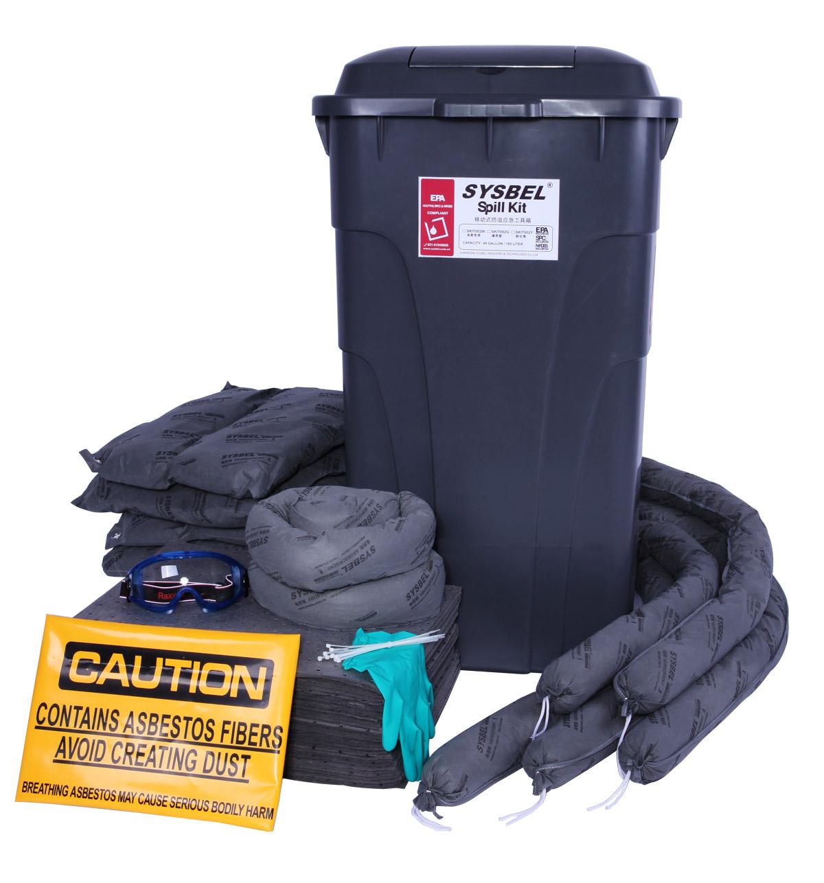 移动式泄漏处理套装 移动式防溢应急工具箱(通用型)SKIT002G