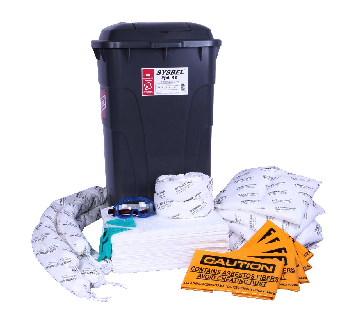 应急处理套装|移动式防溢应急工具箱(油类专用) SKIT002W