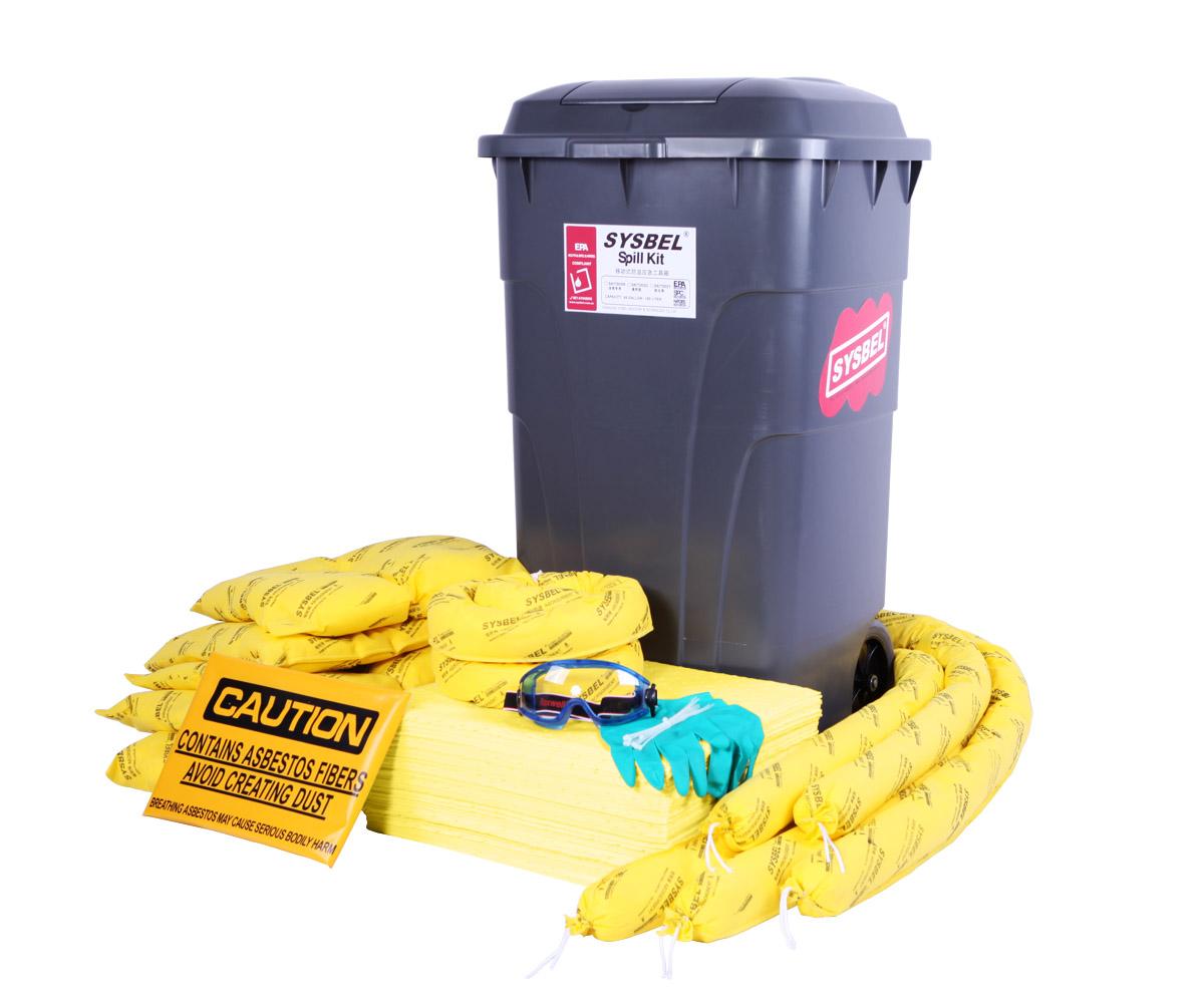 化学品应急处理套装 移动式防溢应急工具箱(防化类) SKIT002Y