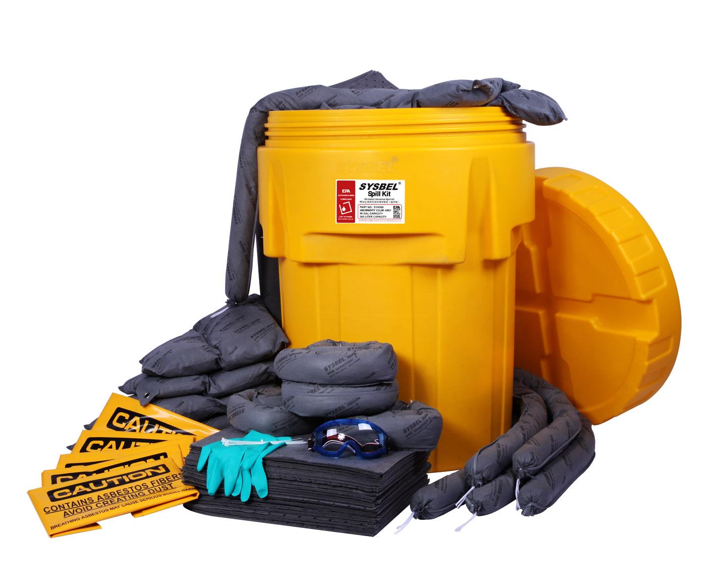 95加仑泄漏应急处理桶套装(通用型)SYK950
